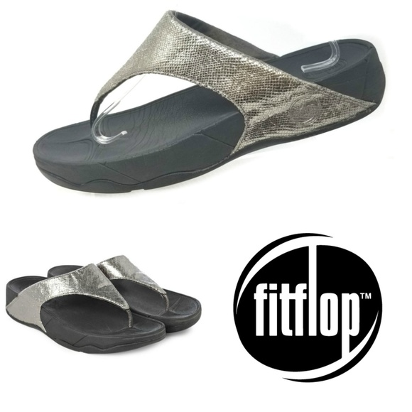 64eb10ebe Fitflop Shoes - FitFlop Lulu Lustra Sandals Pewter Women s ...